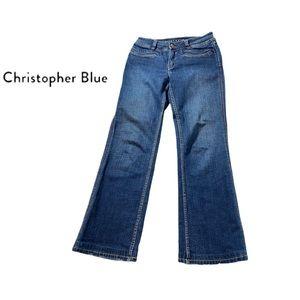 Christopher Blue Dark Wash Boot Cut Jeans